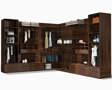 Modern Fashion Design Villa Bed Room Furniture Solid Wood Cloakroom Big Wardrobe Cloth Wardrobe
