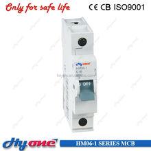 HM06-1 NEW MINI CIRCUIT BREAKER 1P MCB PLASTIC RIVETS 6A-63A IEC60947