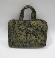 Hot stamping Canvas Tote Bag with inside PVC pocket