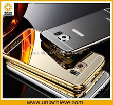 Aluminum metal mirror phone case for Samsung Galaxy S6 cell phone case with mirror