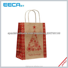 Cheap Christmas brown kraft paper gift bags wholesale in China