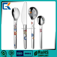 Cheap children cartoon flatware sets lead free stainless steel forks knives and spoons