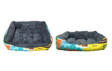 Square dog sleeping bed pet bed and cushions