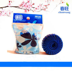 6 Pack packaging with poly bag Cleaning Blue Toilet Blocks Bathroom Freshener