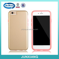 High quality mobile case hybrid pc back cover case for iPhone 6 4.7inch with silicon frame bumper