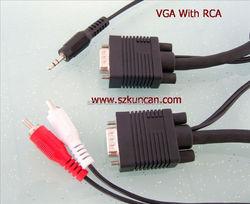 4K 10.2gbps TV HDTV adapter female vga to rca