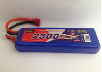 High Discharge Rate Li-Polymer Battery RC Battery Pack 30C 2500mAh RC Lipo battery for RC Hobbies Planes Airplanes Helicopter