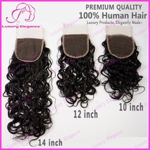 Light Brown Full Lace Closure All Hand Tied Free Parting Lace Closure Wholesale