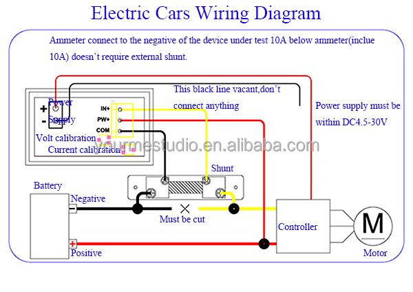 factory price 0 28 red only led digital dc 50a 100v voltmeter rh alibaba com digital voltmeter ammeter wiring diagram DC Ammeter Wiring-Diagram