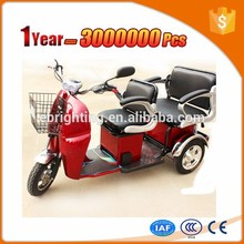 adult three wheel bicycle covered electric passenger tricycle