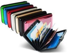 Caliente de aluminio casos de cartera de tarjeta titular de la tarjeta de la caja de banco carpeta de aluminio con caja blanca
