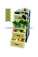 drawer plastic storage with 4 layer and multi colours