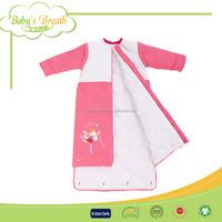 BSB124 anti-bacterial printed cotton walking organic cotton sleeping bag kids