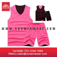 OEM adults/ youth popular sets basketball jersey pink