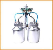 Ningbo 2015 hot on sales schrack relays distributors chrome paint double nozzle gun