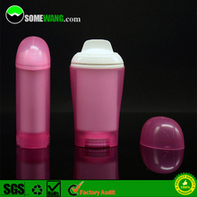 50ml twist up plastic gel stick deodorant container, push up empty transparent deodorant stick container, AS/PP deodorant bottle