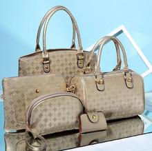 5PCs/Set Leather Retro Women Handbag Vintage Shoulder bag Tote Satchel bag Purse