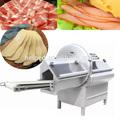 Automático de acero inoxidable tocino máquina de cortar jamón máquina