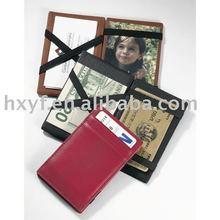 2015 Wholesale hot selling fashion genuine pu leather magic wallet