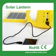 rechargeable emergency light with solar panel