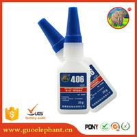 Guo elephant 406 Instant Glue/Cyanoacrylate Adhesive for bonding porous materials