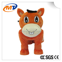 2015 mantong Walking animal ride for kids and parents/plush animal ride for sale