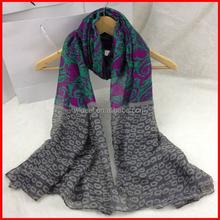 Factory Direct Custom Fashion Shawls Printed Silk Scarf