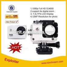 digital camera DV 1080P Full HD H.264 12MP Car Camera Recorder Action Camera 1.5 Inch LCD 140 Outdoor Waterproof DVR SJ4000