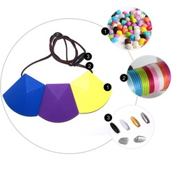 Food Grade Teething Silicone Beads necklace pendant