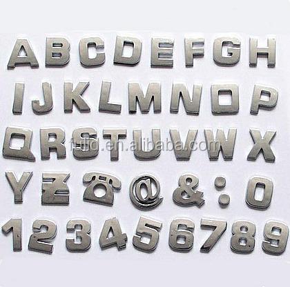 custom self adhesive plastic abs chrome raised plastic With raised plastic letters