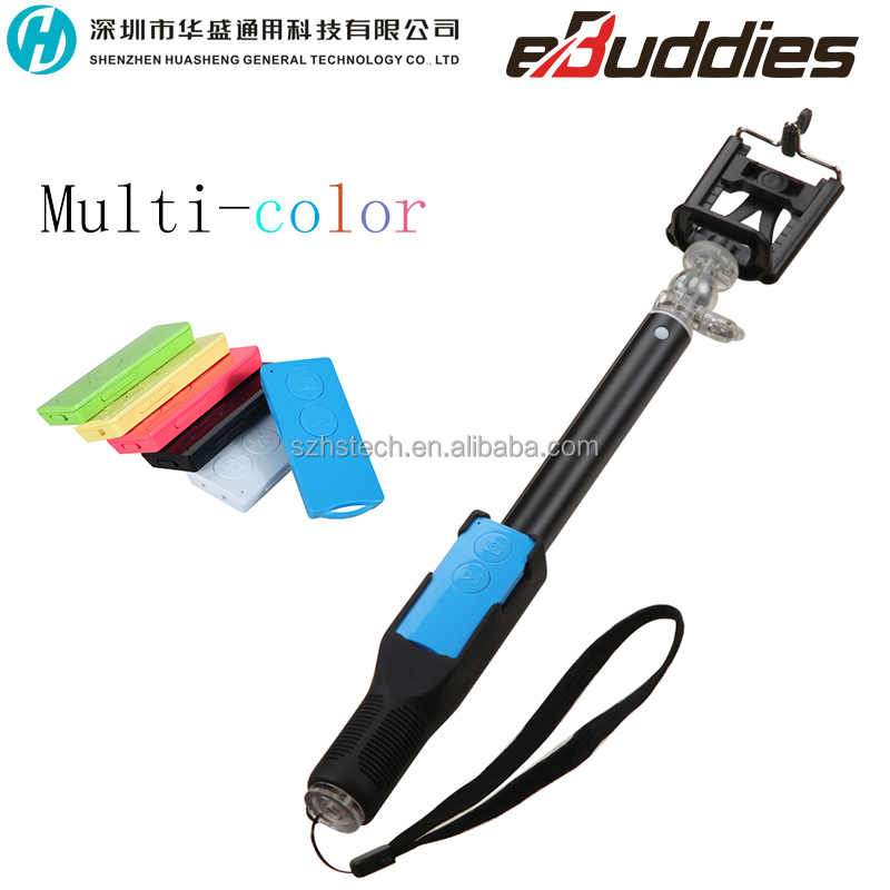 handheld selfie stick monopod with tripod phone holder and bluetooth wireless remote shutter for. Black Bedroom Furniture Sets. Home Design Ideas
