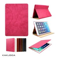 Embossing patterns flip leather cover case for apple ipad air 2