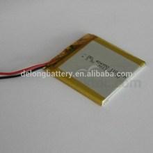 Venta caliente precio de la batería de polímero del-404950 1100 mah batería de litio recargable