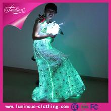 2015 led luminous illuminant plus size western style wedding dresses