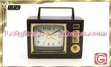 Fashion zinc alloy Retro Radio alarm portable Clock