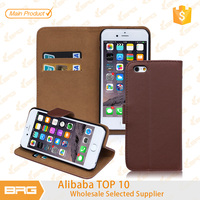 BRG $0.99 Cheapest Colorful Flip Leather Wallet Case Cover with Card Slot and Stand Function for iPhone6 4.7 inch
