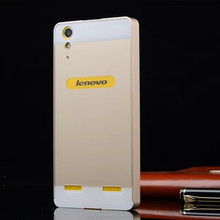 Luxury aluminum alloy protective metal bumper PC back cover case for Lenovo lemon k3