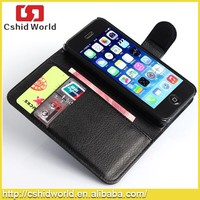 For iPhone 5 Flip Cover Wallet Leather Credit Card Holder Case
