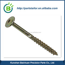 Long gold anodized aluminum screw