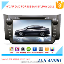 AGS special 9'' touch screen car dvd player for NISSAN SYLPHY 2012