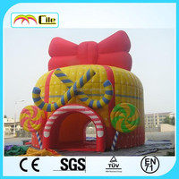 CILE Cute Bowknot Inflatable Castle Bed Moonwalk