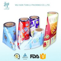 Food Packaging Plastic Roll Film for biscuit,candy,coffee,sugar,juice packaging