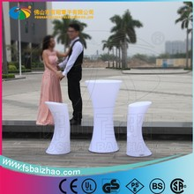 on promotion PE colorful modern design furniture portable luminous led light coffee bar table