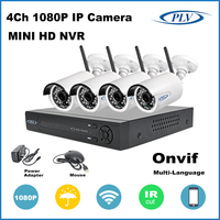 New 4Ch 2MP WIFI HD IP home security system wireless cctv camera system