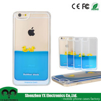 cartoon mobile phone 3d liquid case for iphone 6