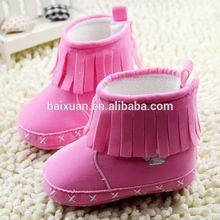fábrica de venta directa de 2015 niñas y niños suave zapatos de bebé de invierno de la primavera y el otoño de botas