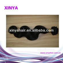 Natural color human hair extension machine weave uk