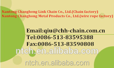 DIN standard galvanized steel chain zinc plated chain proof coil chain NACM/ASTM standard(Grade 30)