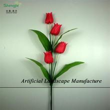 SJZT03 Artificial mini tulip real like flowers , customized fake decorative tulip flower