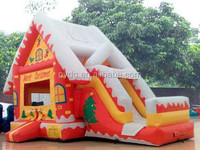 popular used commercial Christmas inflatable bouncer slide for party use